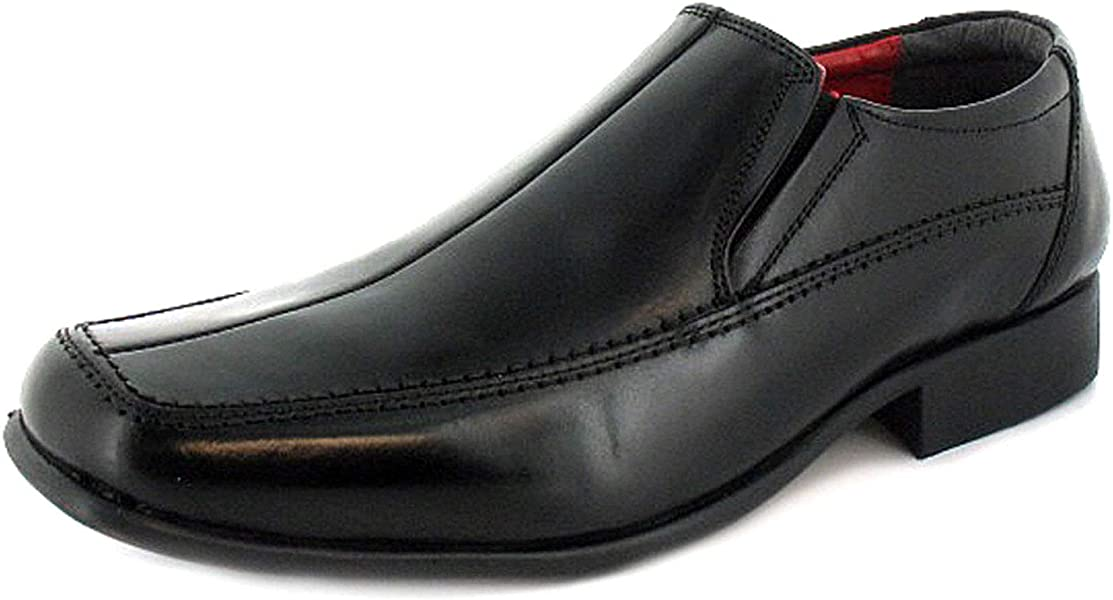 a5b71e05a7d Business Class Harry Mens Other Leather Material School Shoes Black Red  Lining - 6 UK