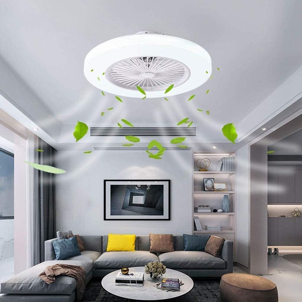 Deckenventilator Deckenventilator LED Ventilator Deckenventilator Mit Beleuchtung 36W Deckenleuchte Dimmbare Mit Fernbedienung 3-Gang Einstellbare Windgeschwindigkeit Modern Schlafzimmer 58CM Blau