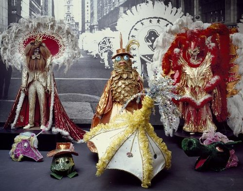 HistoricalFindings Photo: Photo of Colorful Costumes,Mummers Museum,South (Mummer Costume)