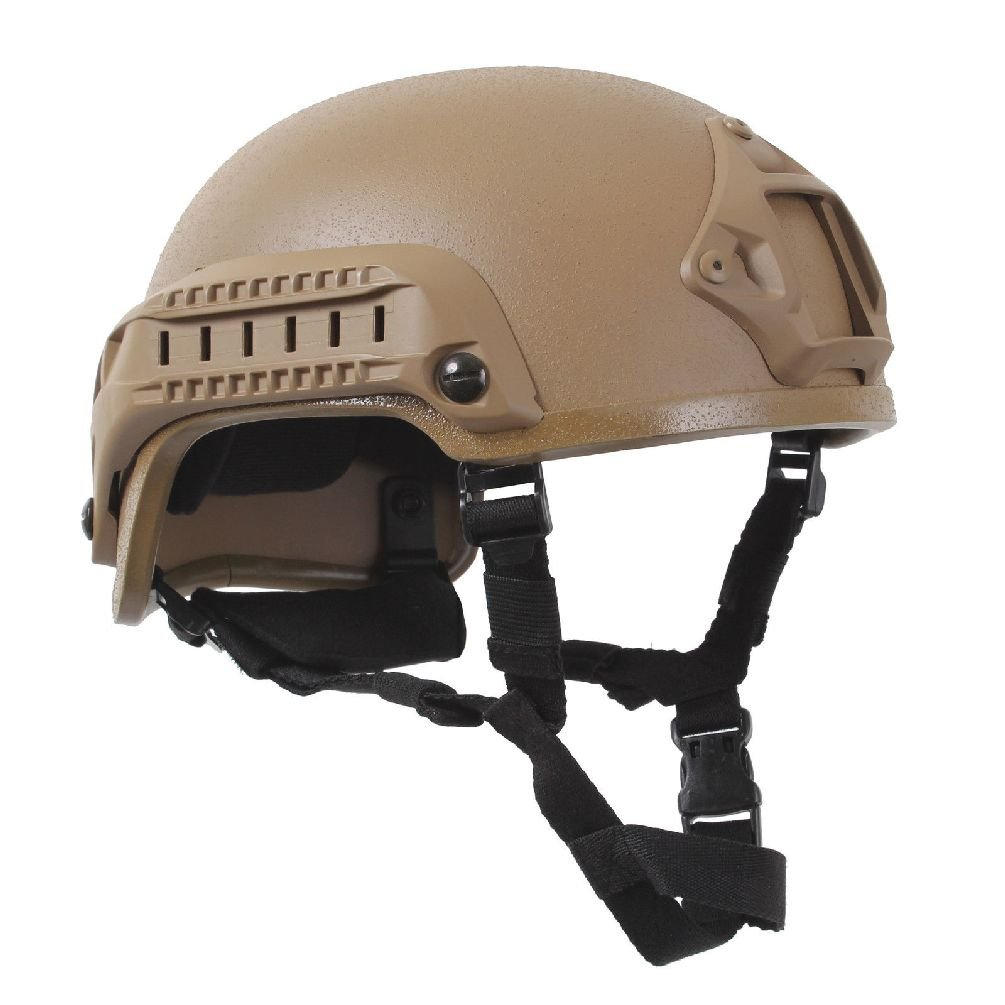 Airsoft ''Base Jump'' Helmet - Olive Drab Coyote Brown - Paintball Airsoft