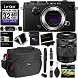 Olympus PEN-F Body Only Black Camera + 14-150mm Lens + Lexar 32GB Memory Card + Polaroid 58mm UV Filter + Ritz Gear Cleaning Kit + Camera Case, OTG USB Card Reader, Screen Protector & Accessory Bundle