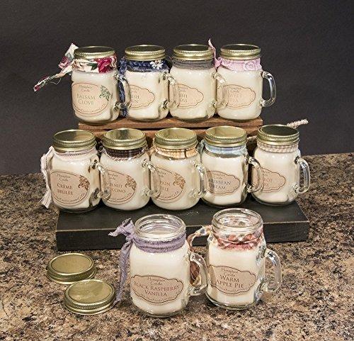 (2 Pack) Homeplace Candle - 4 oz. 100% Soy Candle - SM. Mason Jar Mug - CHOOSE SCENT