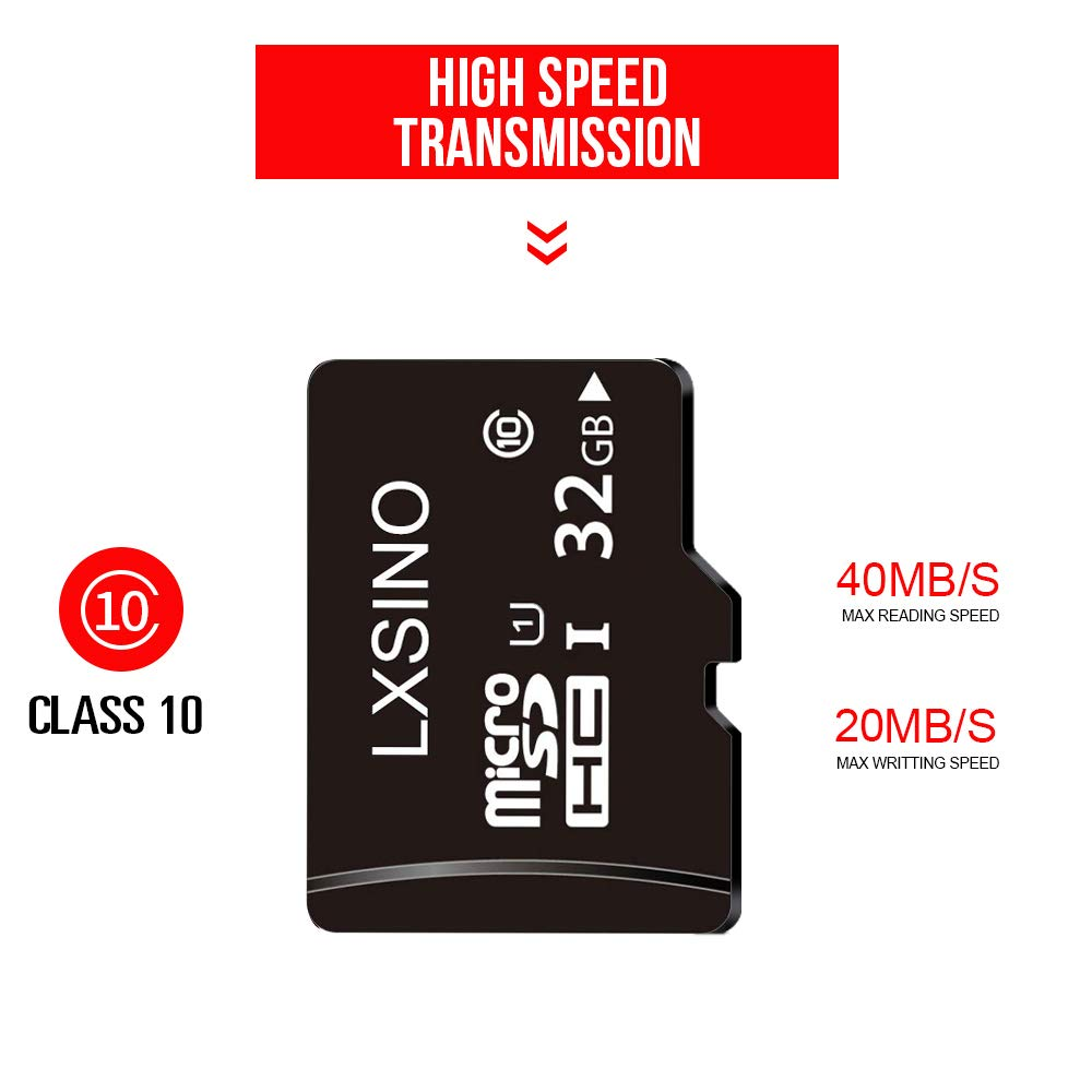 LXSINO 32GB 32G Ultra Micro SD HC Class 10 TF Flash SDHC Memory Card