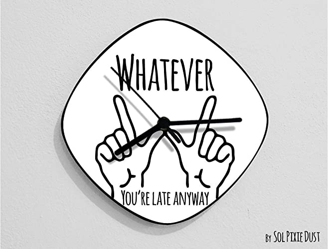 Amazon Whateveryoure Late Anyway Hand Symbol Oval White