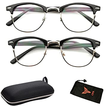 be163e9060 2 Pairs Clubmaster Retro Style Men s   Women s Reading Glasses Metal Frame  Black   Tortoise Color