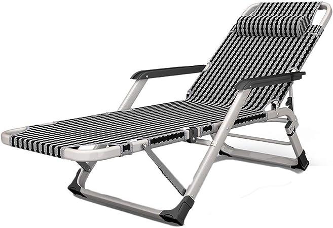 Bases para camas Chaise Longue Multifunción Antigua Silla De Playa Perezosa Silla Siesta Plegable Tumbona para Jardín Al Aire Libre (Color : Gray, Size : 178 * 52 * 33cm): Amazon.es: Hogar