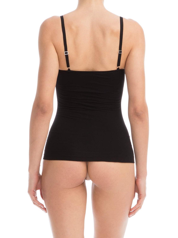 Farmacell Bodyshaper 607B Unterhemd mit verstellbaren Schulterriemen st/ützend formend Brust Push-up leichtes und erfrischendes NILIT Breeze Gewebe