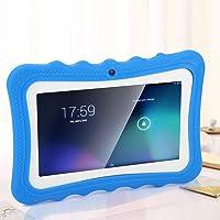 Richer-R Tablet para Niños,7 Pulgadas Tablet Infantil para la Educación Temprana de Kid,WiFi PC Inalámbrico con Cámara(Azul)