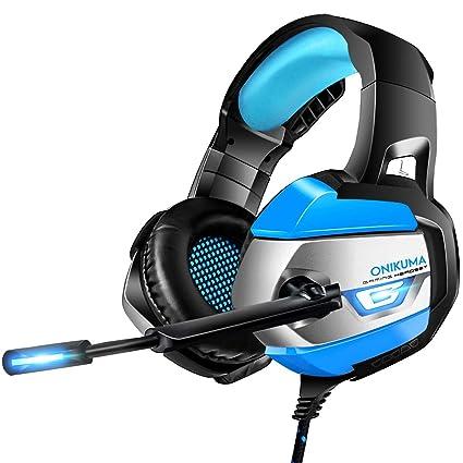 ONIKUMA Auriculares Gaming, Cascos Gaming con Micrófono Reducción de Ruido para PS4, Xbox One, Nintendo Switch, Sonido 7.1 Surround + Aislamiento, ...