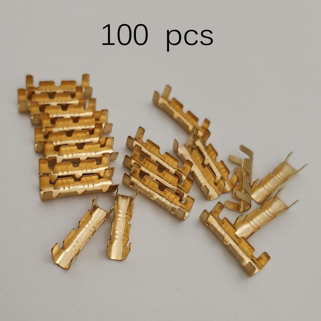 Lorenlli Bot/ón de conexi/ón r/ápida de los conectores de la base de 100 piezas Bot/ón de conexi/ón r/ápida para terminales de cableado Kit de conector el/éctrico