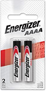 Energizer Max AAAA Size Batteries, 2-Count