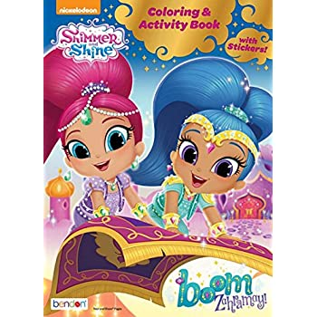 Shimmer And Shine Coloring Activity Book Boom Zahramy