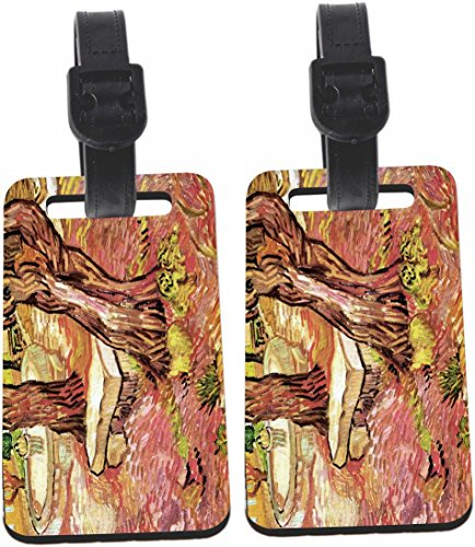 h The Stone Bench Garden Luggage Identifiers with Strap(x8) (1479 Santa)