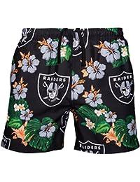 FOCO Mens Team Logo Floral Hawaiian Swimsuit Trunks, Color, XXL (36