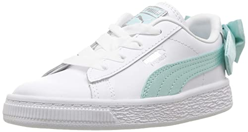 PUMA Baby Basket Bow Slip On Sneaker, Island Paradise, 4 M US Toddler dc51805cd0f3