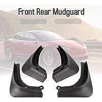 Docooler 4Pcs Car Mud Flaps Front Rear Mudguard Splash Guards Fender Mudflaps Fit for Tesla Model 3 2016-2019