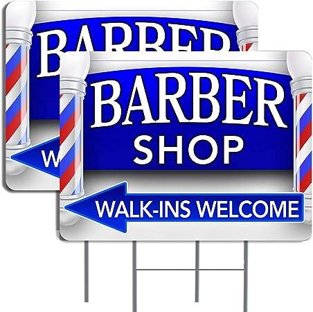 Amazon.com: Paquete de 2 carteles para barberos (flecha ...