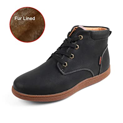 24f4fc6ab4743 Amazon.com | Leader Show Men's Winter Ankle Snow Boots Waterproof ...