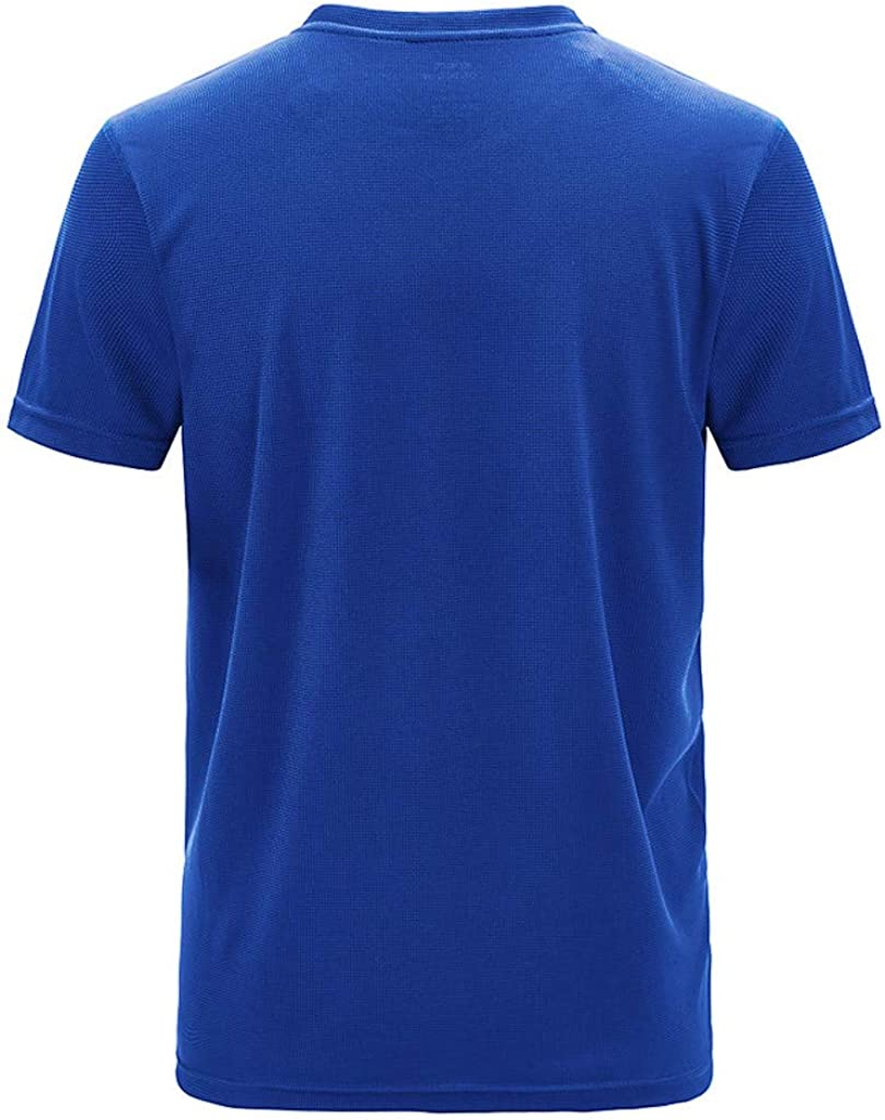 Joysale Mens Quick Dry Mesh Athletic Shirts Solid Color Short Sleeve Running Outdoor Sport Tops