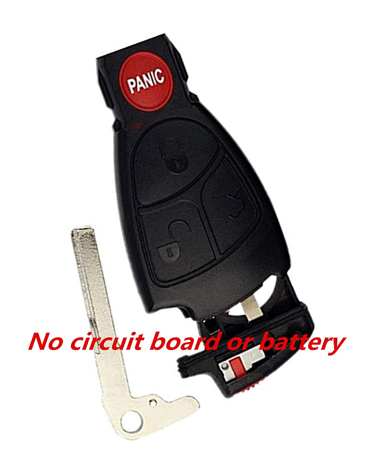 Remote Entry System Kits Car Fob Key Shell Case Pad For 2000 2001 2002 2003 2004 2005 Mercedes