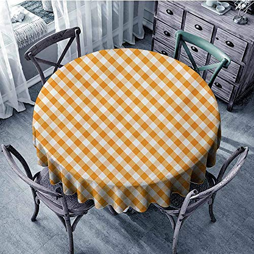 - HeKua Checkered,Tablecloth Round Tablecloth D 36