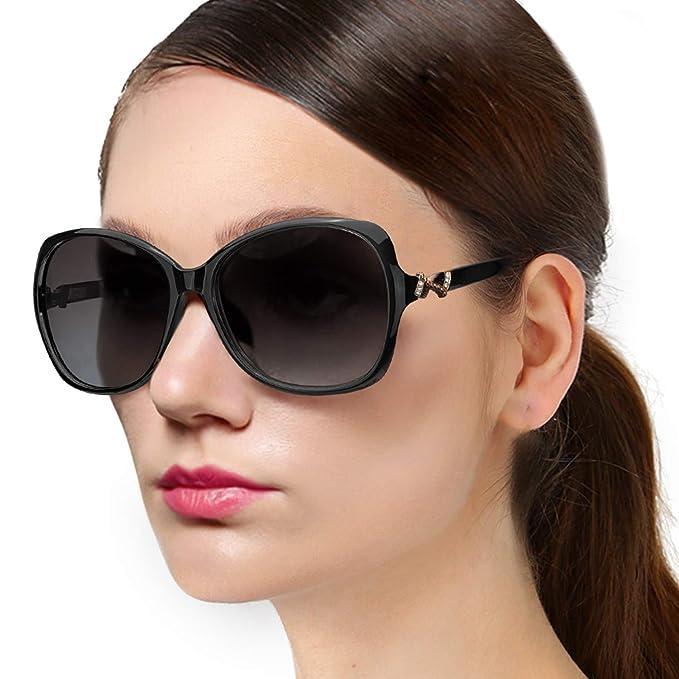 053ac2ac0ad0 Protineff Oversized Polarized Sunglasses for Women, Fashion Big Frame  Ladies Shades, Classic Sun Glasses
