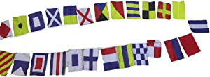 Brass Blessing Nautical Sailboat Boating Bunting Signal Flags - Complete Set - Maritime/Marine/Boat/Yacht/Beach Party Decor: