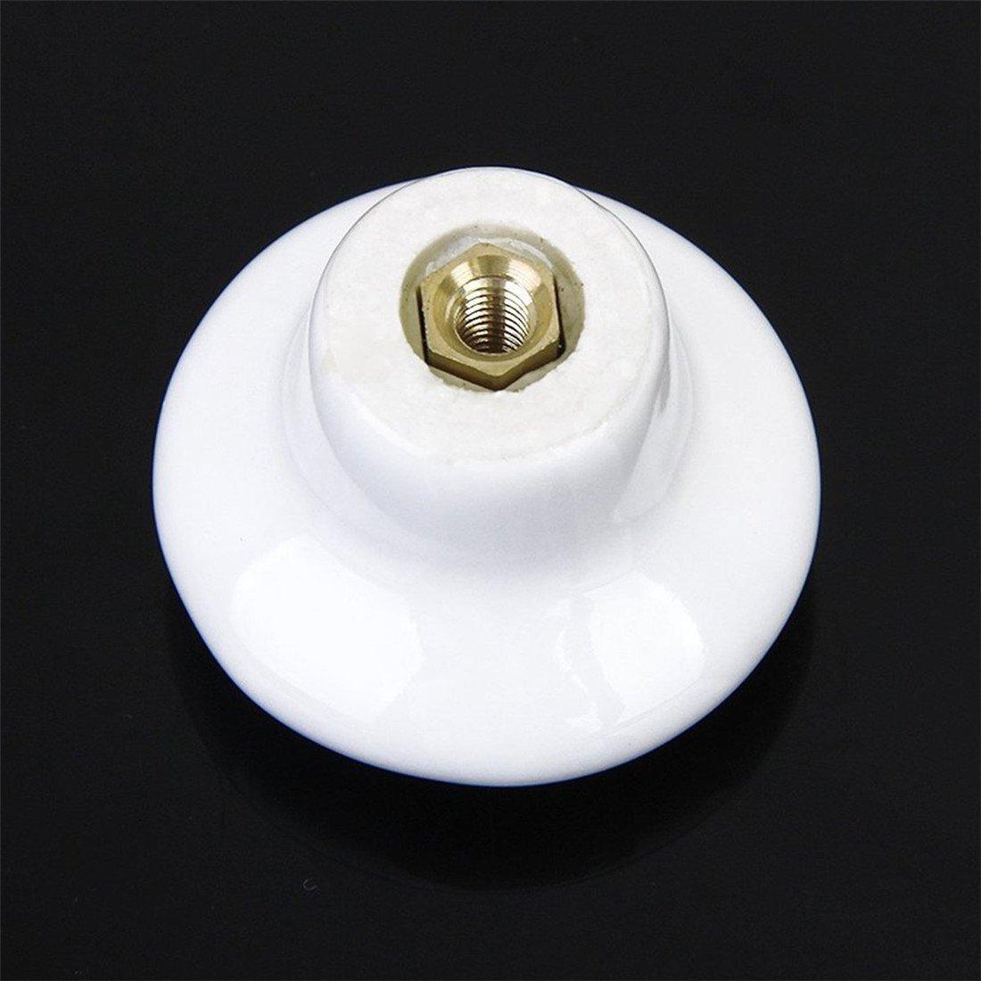 12 pcs Bianco Rotonda Maniglia Armadio Da Cucina Cassetto Mobili Gabinetto Manopole Marca Creatwls Pomello Di Ceramica Per Porte Cassetti Ante Armadio Mobili