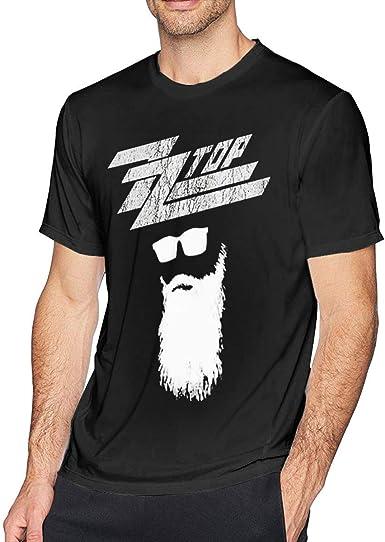 SOTTK Camisetas y Tops Hombre Polos y Camisas, Mens Vintage ZZ Top Rock Band T-Shirt Black: Amazon.es: Ropa y accesorios