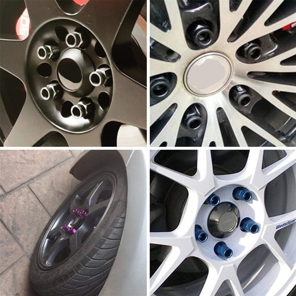 Shop-PEJ /Écrous de Roue 20pcs Universal Racing Wheel Lug Nut Aluminium 50 mm Voiture Lug /écrous de Roue /à vis /Écrous de Roue de Voiture Color : Gold, Size : M12x1.25