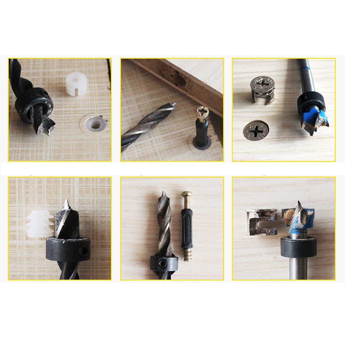 outils de trou et de ton argent pour le d/émontage et linstallation de meubles OD ajustement de la came de roue longueur diam/ètre excentrique 50 ensembles de meubles reliant 15 mm 40 mm