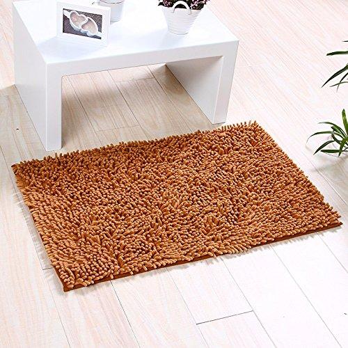 NSSBZZThe carpet of the door mat bedroom kitchen bathroom mat fireplace bath water mat 50 80cm Brown/a by NSSBZZ