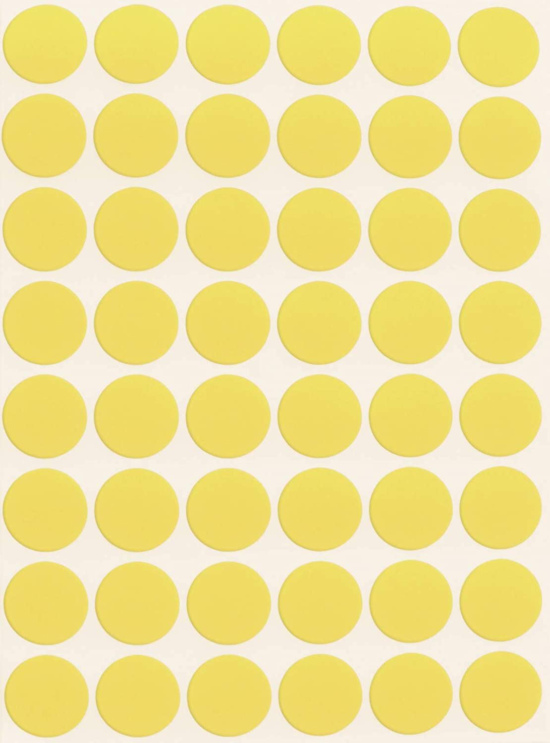 1000 YELLOW STICKERS 12MM DIA COLOURED ROUND SELF ADHESIVE LABELS STICKY DOTS