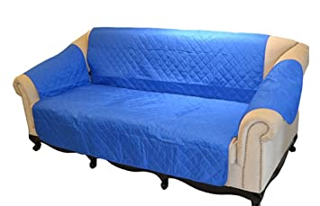 WowowMeow Pet Water Resistant Sofa Cover Furniture Protector (Sofa, Blue)