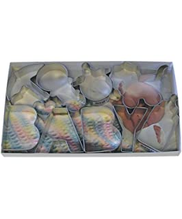 R&M International 1945 Baby Shower Cookie Cutter Set, Assorted Designs, 10-Piece Set