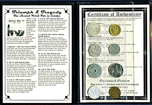 1945 The Second World War in Europe 6 Coin Album,Story,Certificate Very Good (Bulk In Coins World)