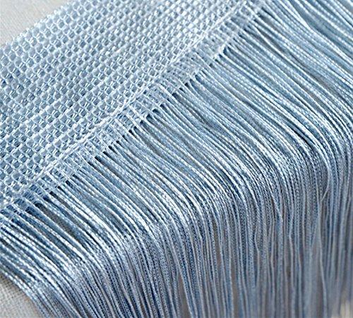 Curtain Hanging Panels (Door String Curtain Wall Panel Window Room Divider Blind, Home Decorative Tassel Screen Ribbon Strings, 100x200cm, Blue)