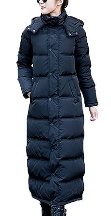 EOZY Mujer Abrigo Chaqueta Larga De Plumón con Capucha Invierno Negro: Amazon.es: Ropa y accesorios