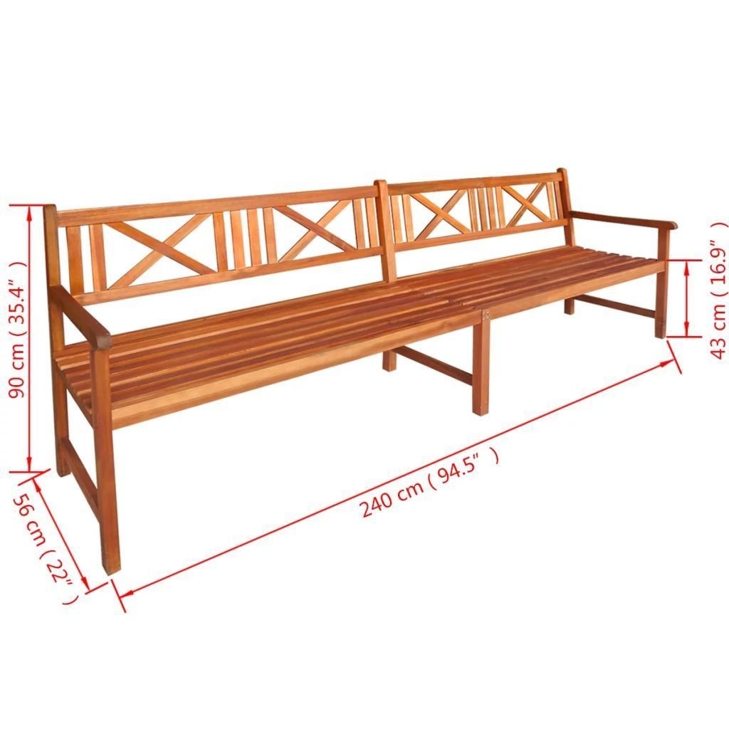 Amazon com outdoor patio 4 seater wooden bench acacia wood with light oil finish patio furniture garden outdoor