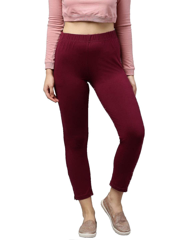 LUX LYRA Women's Straight Pant Slim (LYRA_KURTIPANT_1PC_Medium Maroon_Free Size)