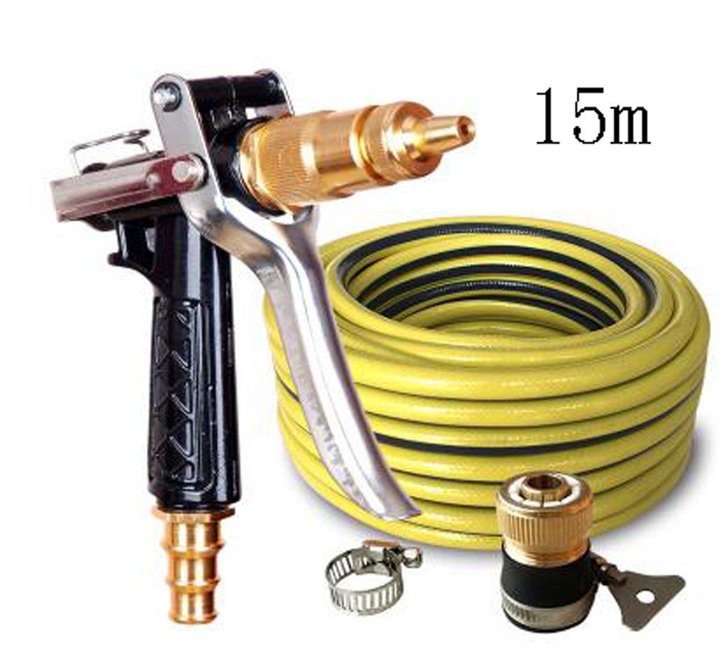SHI XIANG SHOP Hochdruck-Autowaschanlage Kupfer-Wasserpistole Schwarz Mehrfach-Option Optional A+ ( größe : 15 meters )
