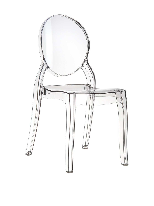 Ghost Plexiglass Chair Chair Elizabeth Transparent Transparent Illustration in Transparent Clear (NO CHINA WARE = Quality) Fiesta ISP034 30340_TRASPARENTE