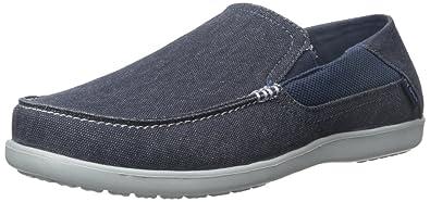 1fbdbaaa195078 crocs Men s Santa Cruz 2 Luxe M Navy Light Grey Loafers - M9(202056 ...