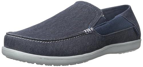 1aaeb4fd3 crocs Men s Santa Cruz 2 Luxe M Navy Light Grey Loafers - M9(202056 ...