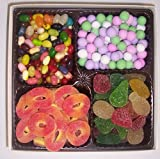 Scott's Cakes Large 4-Pack Chocolate Dutch Mints, Peach Rings, Pectin Fruit Gels, & Assorted Jelly Beans