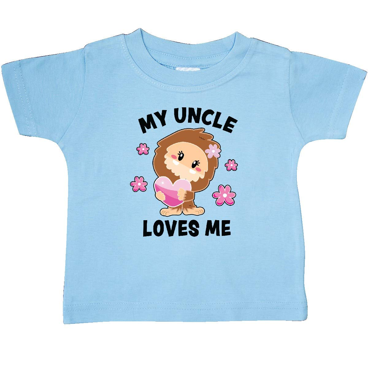 inktastic My Uncle Loves Me with Bigfoot Baby T-Shirt