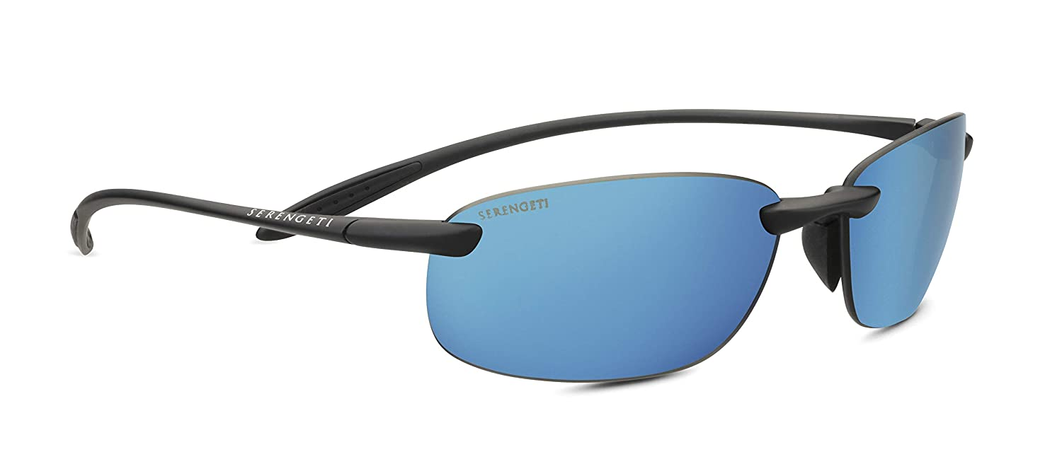 eb23592b8a Amazon.com   Serengeti Sport Nylon Nuvola Satin Black Phd Polarized 555nm  Blue Sunglasses   Sports   Outdoors
