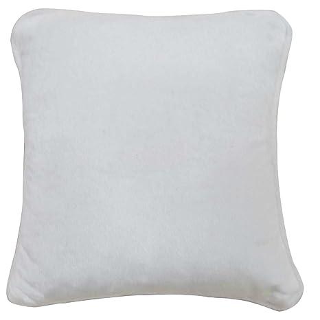 La funda de almohada de terciopelo blanco llano Cojín con ...