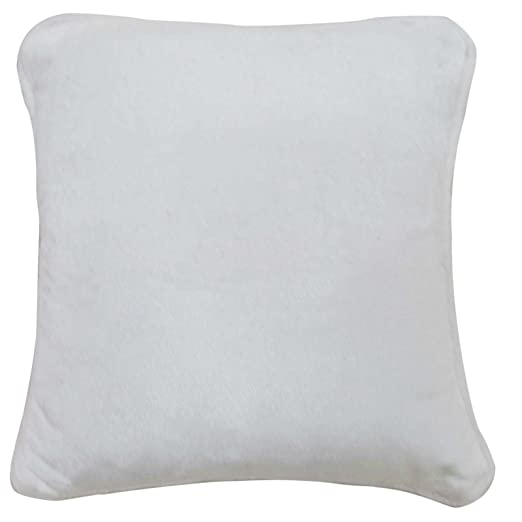 Amazon.com: Llanura Velvet Funda de almohada color Blanco ...
