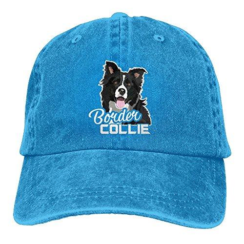 Lovely Border Collie Denim Hat Adjustable Women Funny Baseball Hat